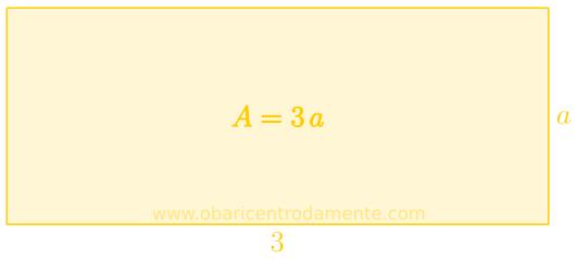 Representação geométrica da expressão 3a
