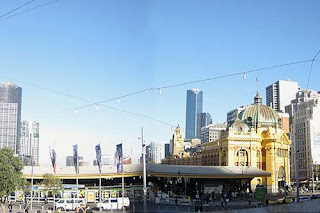 All Aboard At Flinders Station.
