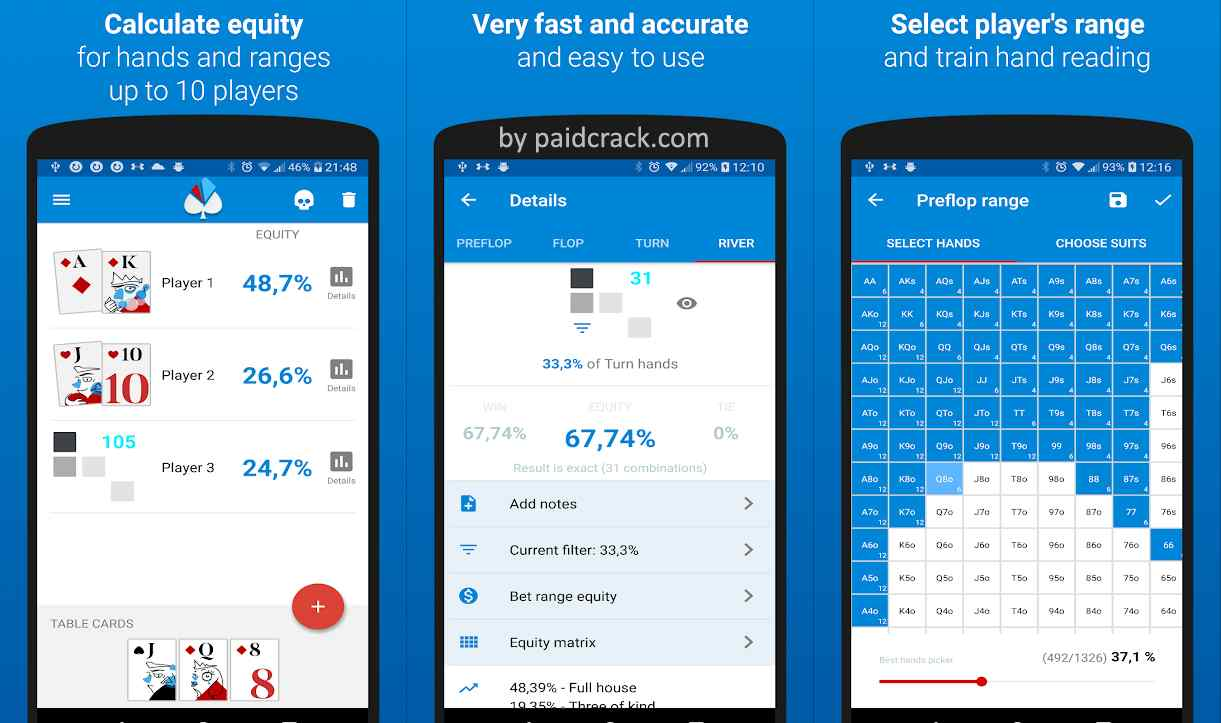 Poker equity calculator Holdem Lab 2 Premium Mod Apk 1.7.1
