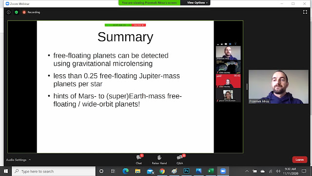 Summary for free-floating planets (Source: Przemek Mroz, Exoplanets Demographics 2020 meeting)