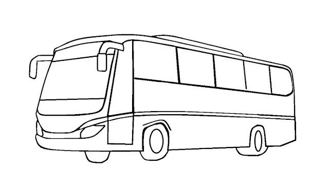 Menggambar Mobil Bus dengan Huruf B, U, S