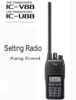 Cara Setting Radio HT ICOM V88