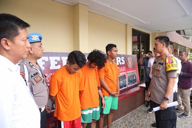 Polrestabes Medan Amankan Tiga Pelaku Perusak SMAN 5 Medan