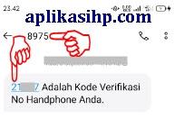 Buka Pesan SMS Masuk yang Berisi Nomor Kode Verifikasi Nomor HP Anda