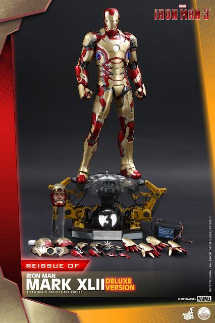 Hot-Toys-Iron Man-3-MCU-1/4-Iron-Man-Mark-42-XLII-Marvel-collectible-figure-Poster-reissue