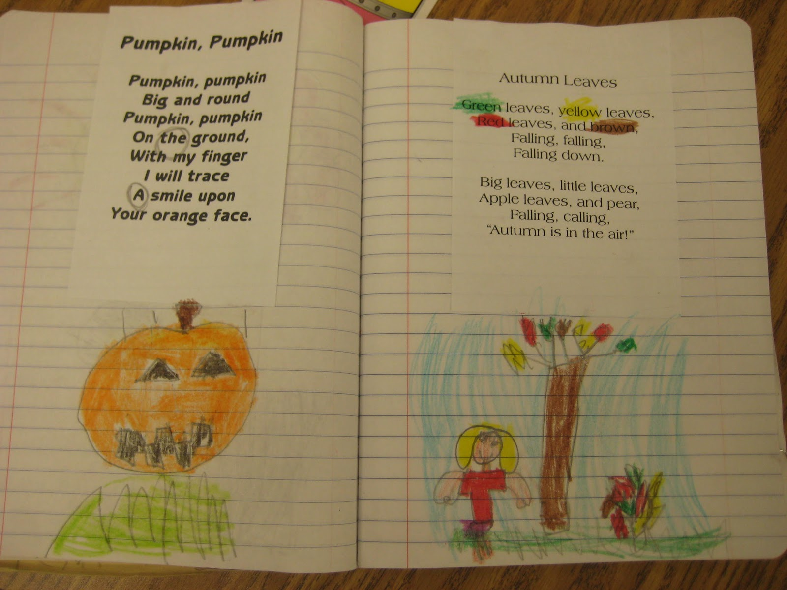 Kindergarten Smiles Poetry Notebooks