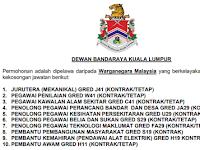 Jawatan Kosong Dewan Bandaraya Kuala Lumpur DBKL