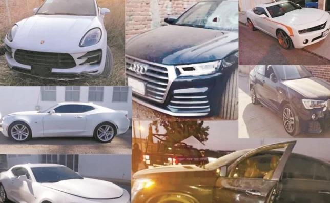 Fotos; Autos de lujo, Pipas y hasta Ambulancias le han quitado al Marro líder Huachicolero del Cartel de Santa Rosa de Lima, en total 221 vehículos