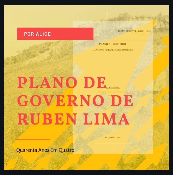 PLANO DE GOVERNO DE RUBEN LIMA
