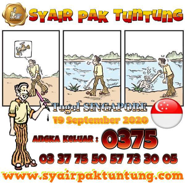 Syair SGP Sabtu 19 September 2020 -