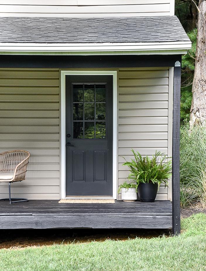 Iron Ore painted deck door