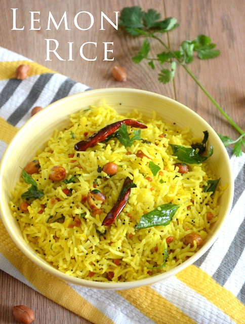 lemon rice by veggie recipe house
