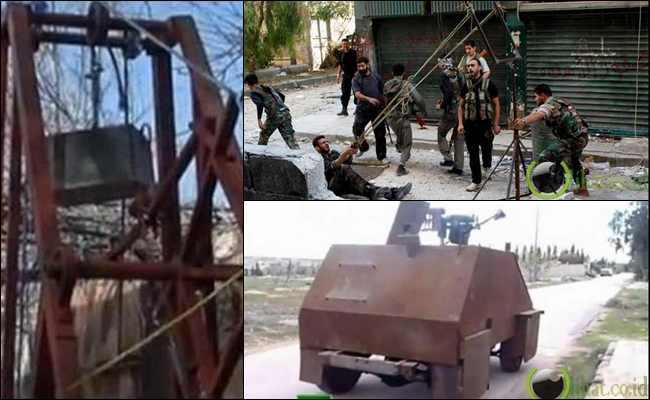 10 Penampakan Senjata Aneh Pemberontak Suriah