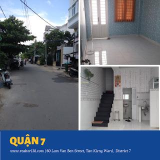 Cho thuê nhà đường Lâm Văn Bền giá rẻ