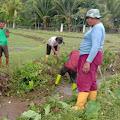Jalin Kebersamaan, Babinsa Neubok Badeuk Gotong Royong Bantu Warga Bersihkan Saluran Persawahan