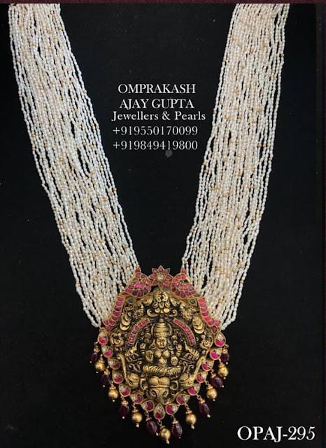 Lakshmi Nakshi Pendants with Thiny Pearls