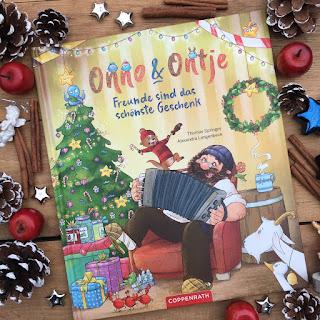 """Weihnachtsbilderbuch """"Onno und Ontje: Freunde sind das schönste Geschenk"""" von Thomas Springer, illustriert von Alexandra Langenbeck, erschienen im Coppenrath Verlag"""