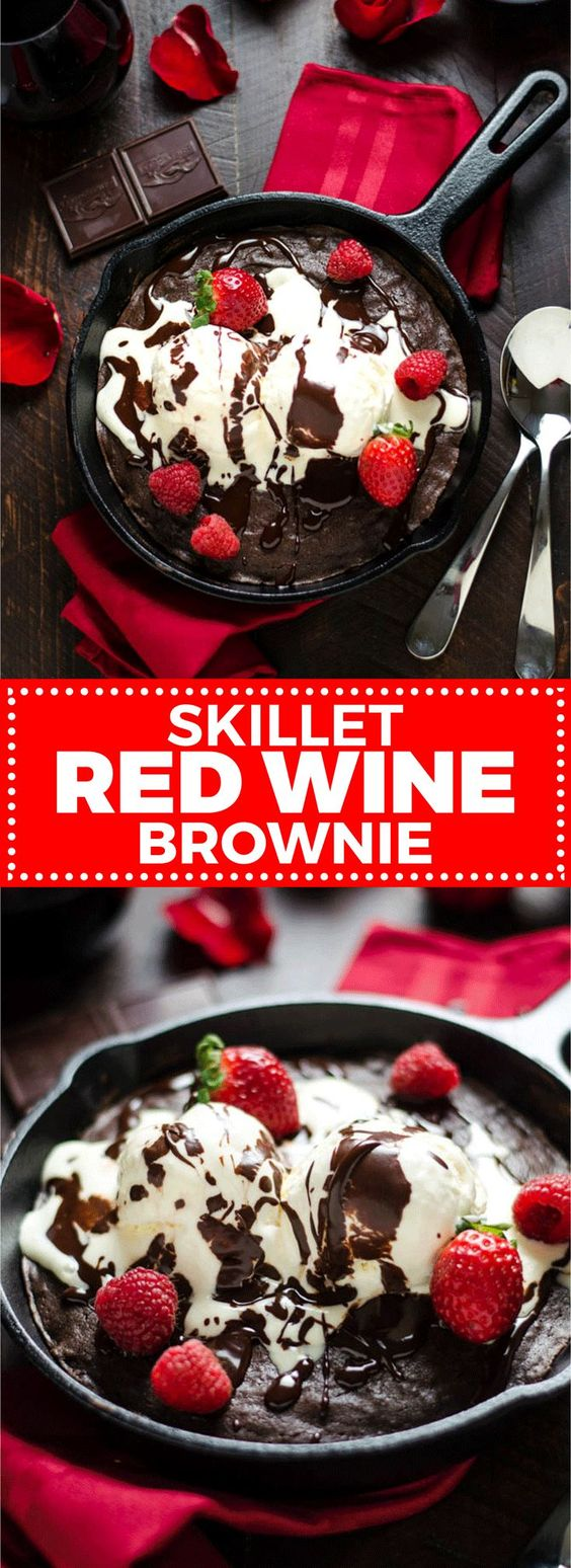 SKILLET RED WINE BROWNIE