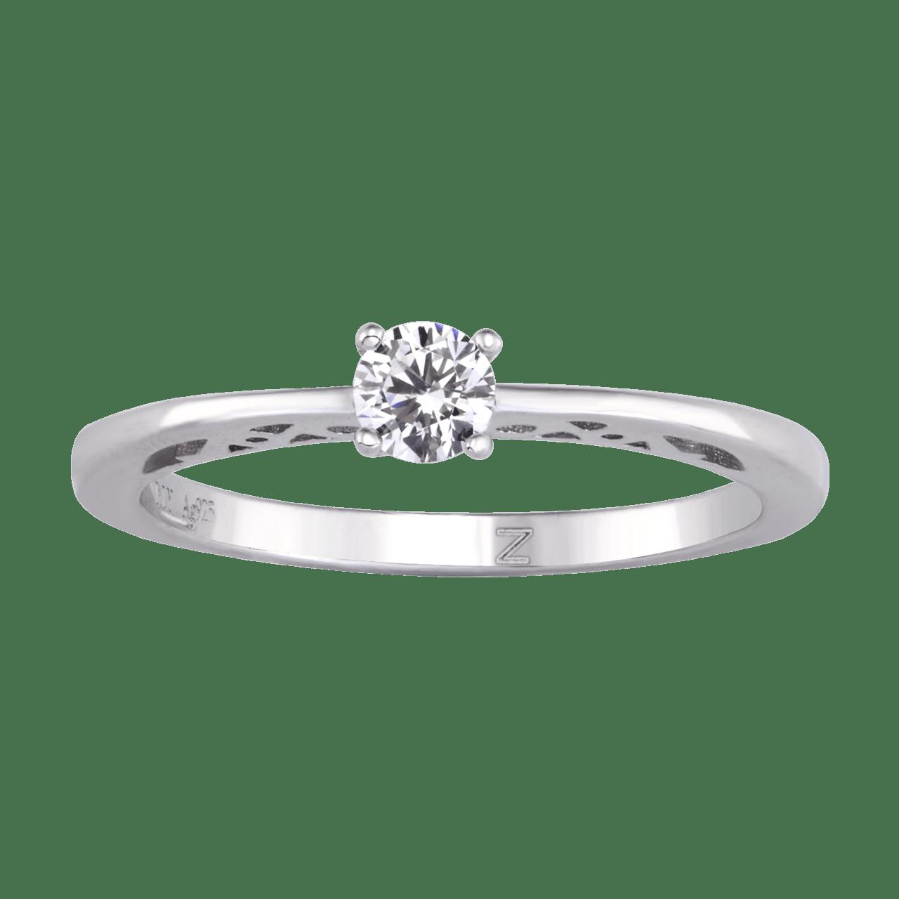 Nhẫn bạc đính đá PNJSilver XMXMW060000