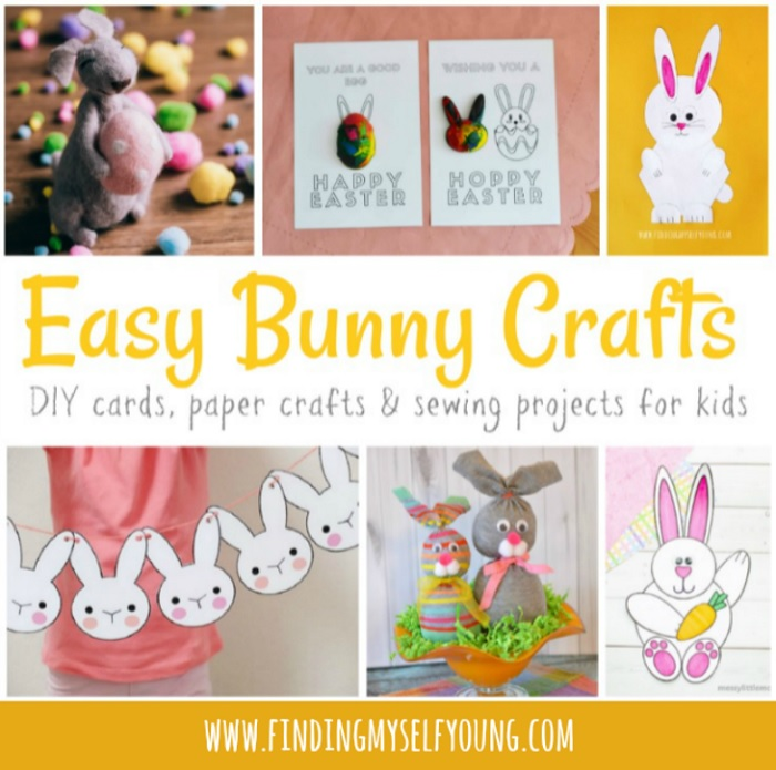 easy easter bunny crafts and sewing projects for kids