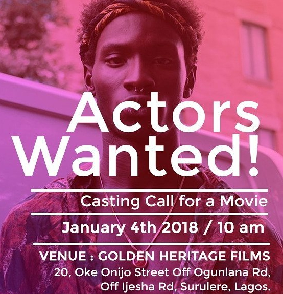 nollywood acting auditions 2018