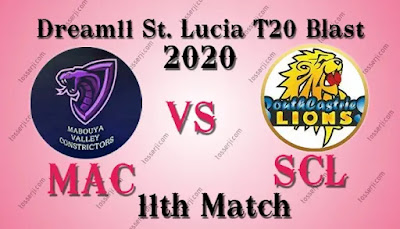 Who will win MAC vs SCL 11th T10 Match