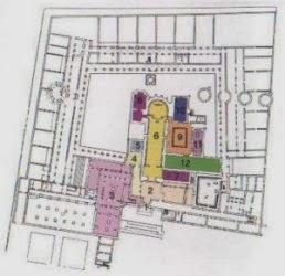 Plano del Monasterio de la Cartuja.