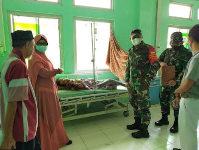 Tali Asih Dandim 0105/Abar Bangkitkan Semangat Warga Yang Sakit Lumpuh
