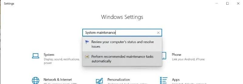 Windows لا يستجيب صيانة النظام