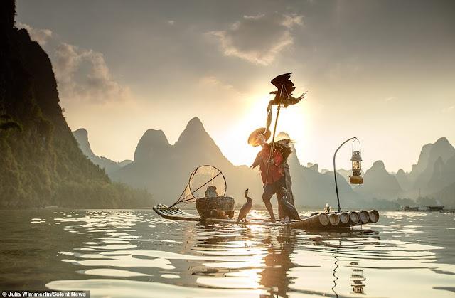 Ảnh đẹp Lão Ngư phủ tại sông Lệ Giang, Trung Quốc 1
