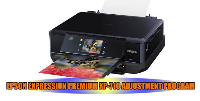 EPSON EXPRESSION PREMIUM XP-710 PRINTER ADJUSTMENT PROGRAM