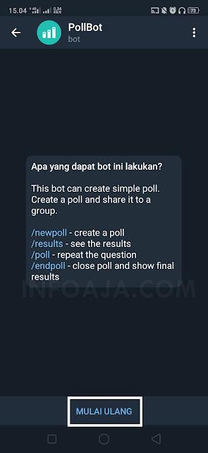 Membuat polling dari telegram