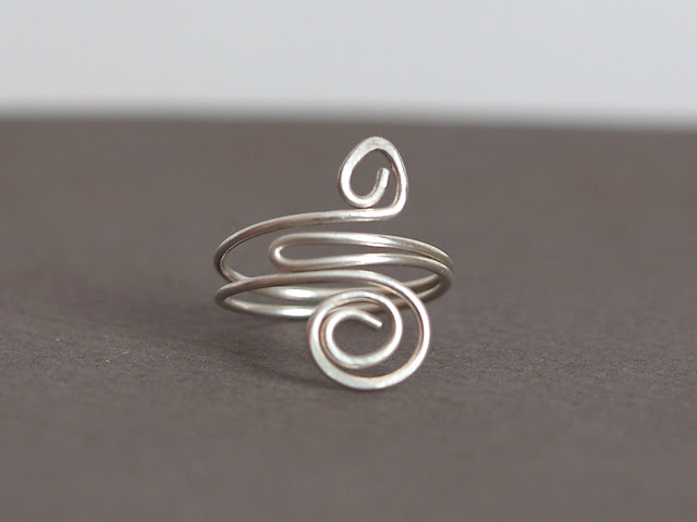 Sterling Silver Adjustable Spiral Ring
