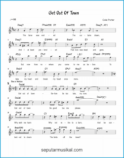 chord get out of town 1 lagu jazz standar