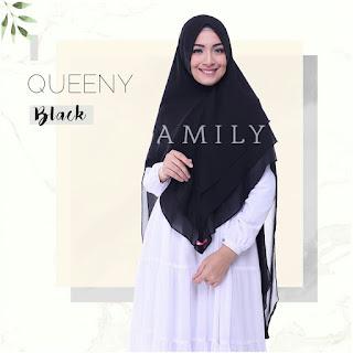 Hijab Amily Khimar Queeny Black