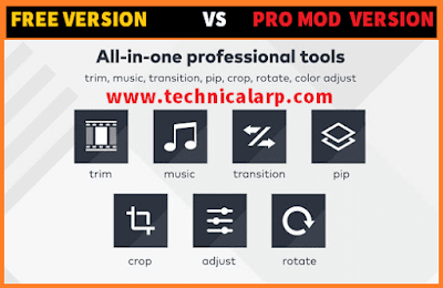 FilmoraGo Pro Apk Mod version or Unlocked FilmoraGo Pro Apk Benefits over Free Version