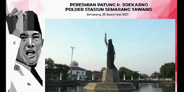 Megawati Resmikan Patung Bung Karno di Stasiun Kota Semarang