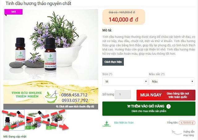 Cách sử dụng theme Tinhdauonline Premium chỉ dùng 1 ảnh