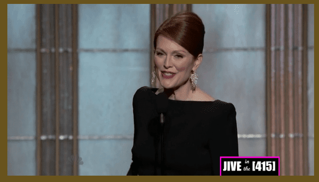 Golden Globe Award Winner Julianne Moore - Best Actress in a Miniseries or Movie Made for Television 1/13/2013