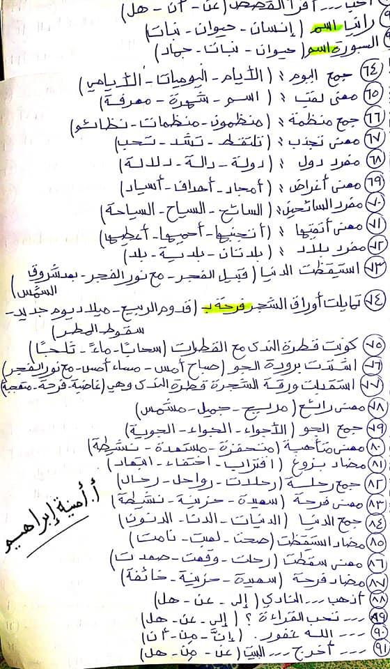 336 سؤال اختيار من متعدد للصف الرابع الابتدائي يشمل كل أجزاء المنهج قراءة ونصوص ونحو ومواطن جمالية 4