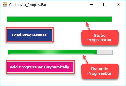 Add ProgressBar Control Dynamically