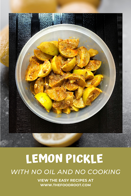 Lemon Pickle With No Oil and No Cooking