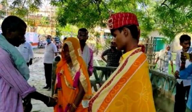 थाने में देवर ने अपनी भाभी की मांग भर रचाई शादी