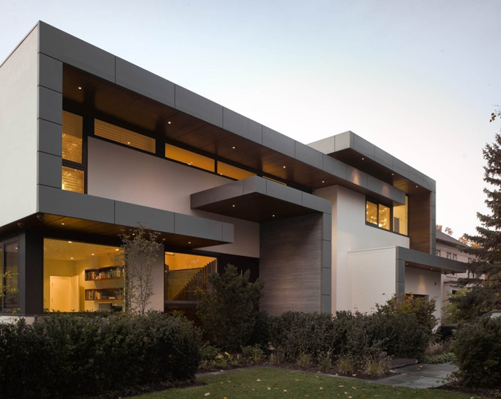 Exterior facade of Modern mansion by Belzberg Architects Group
