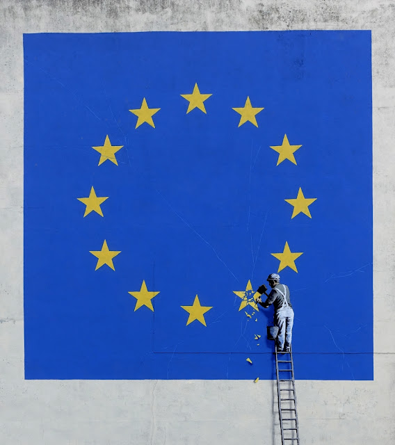 Banksy's Brexit Mural Mysteriously Disappeared from the Building