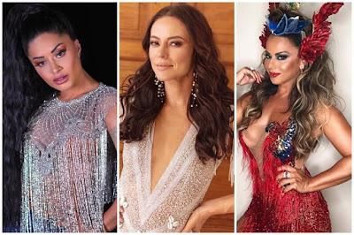 Aline Riscado, Paolla Oliveira e Viviane Araújo estão entre as rainhas de bateria que vão cruzar a Marquês de Sapucaí em 2020 no carnaval do Rio — Foto: Reprodução/Instagram