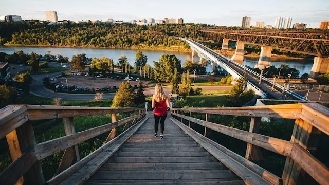 The North Saskatchewan River valley parks