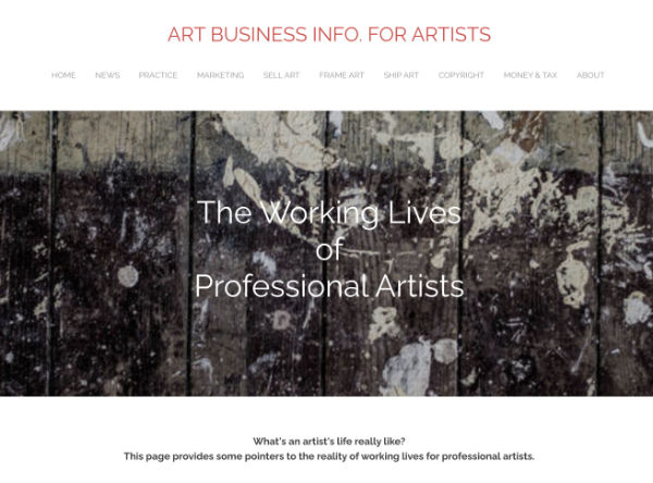 The working lives of professional artists