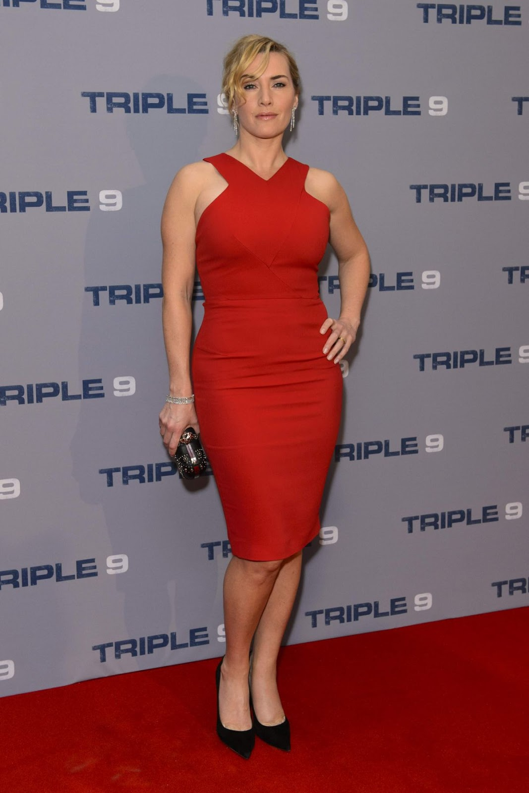Kate Winslet at red carpet of 'Triple 9' Screening Ham Yard Hotel, London