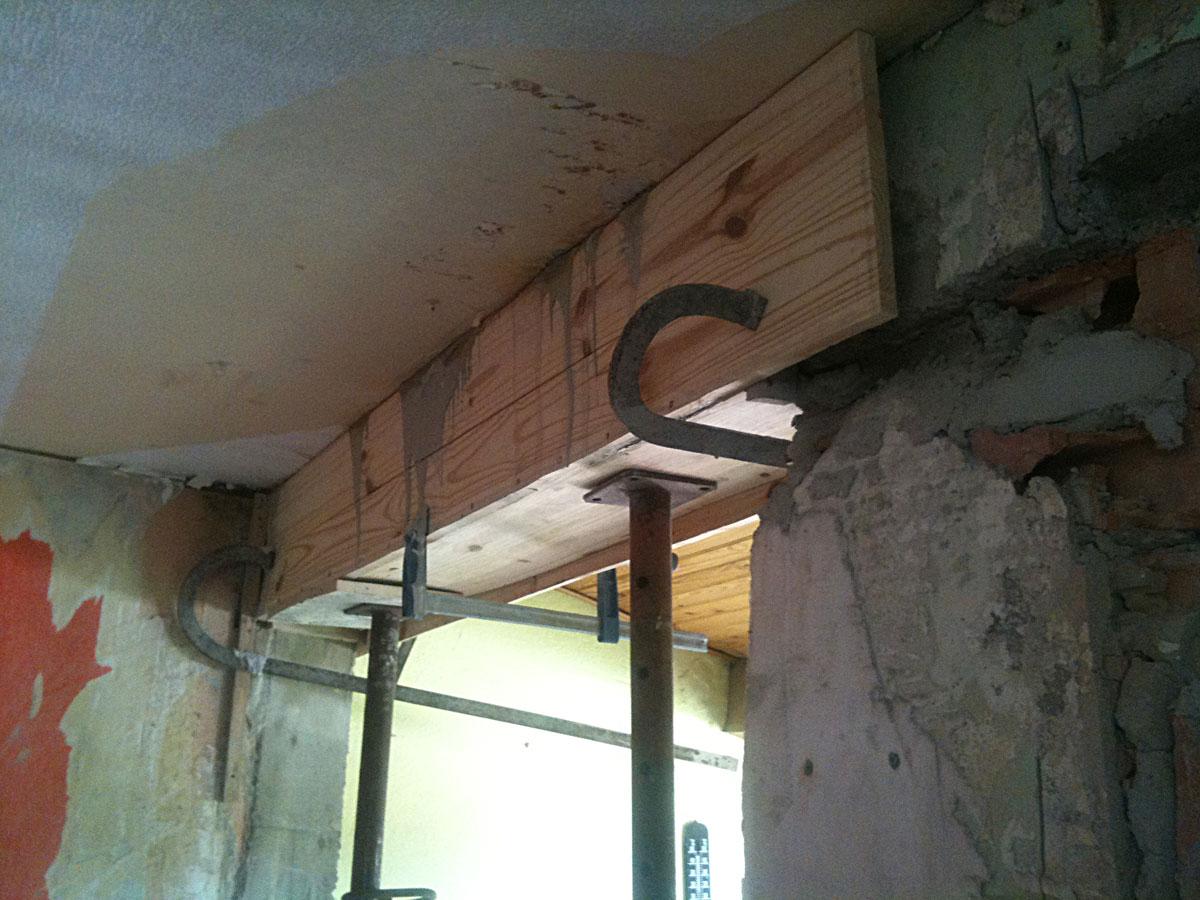 r novation de ma maison couler un linteau et casser un. Black Bedroom Furniture Sets. Home Design Ideas